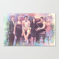 gossip girl Canvas Prints featuring Gossip Girl American TV series by Nechifor Ionut