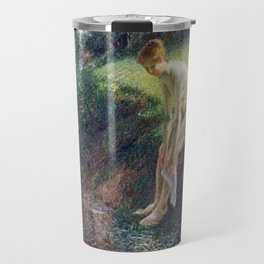 Camille Pissarro Bather in the Woods Travel Mug