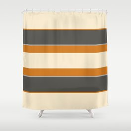 Minimal Abstract Vintage Cream Orange Grey 07 Shower Curtain