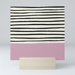 Dusty Rose & Stripes Mini Art Print