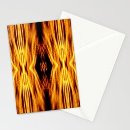 Flame Pattern Fire Astract Stationery Cards