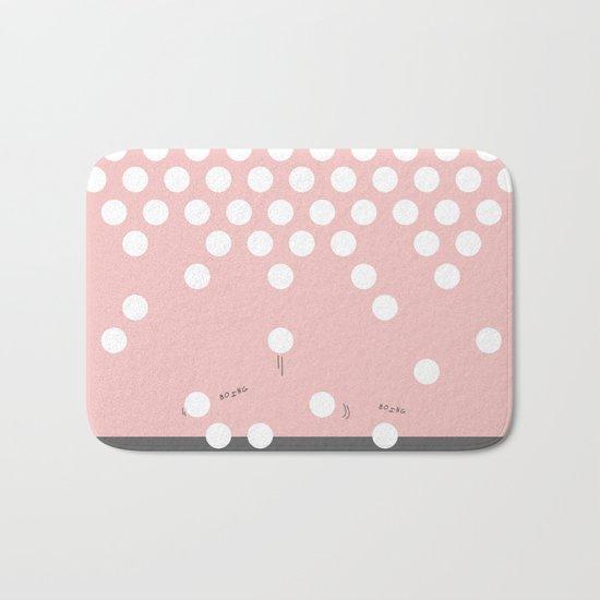 polka dots bounce Bath Mat