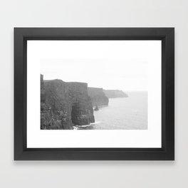 Cliffs of Moher B&W Framed Art Print