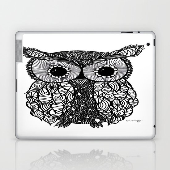 crazy owl Laptop & iPad Skin