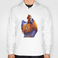rooster Hoodies featuring Rooster by Tim Jeffs Art