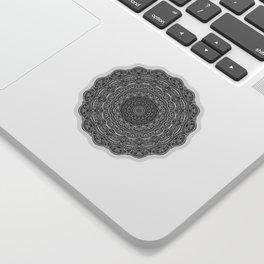 Zen Black and white mandala Sophisticated ornament Sticker