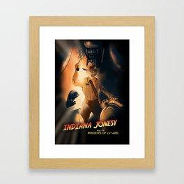 Indiana Jonesy Framed Art Print