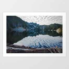 Snow Lake Art Print