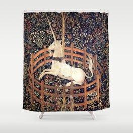 The Unicorn in Captivity Shower Curtain