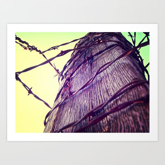 Blow the Wire Art Print