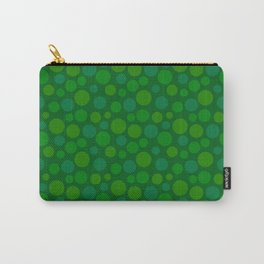 animal crossing floor patterns circle summer green Carry-All Pouch