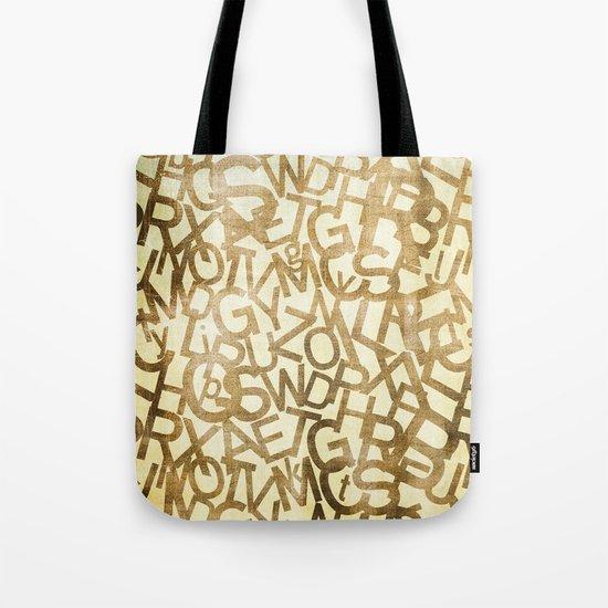 Din pattern Tote Bag
