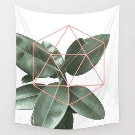Geometric greenery Wall Tapestry