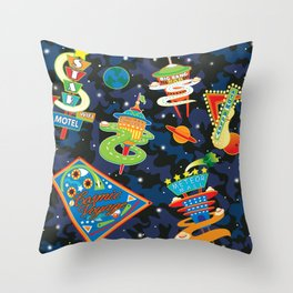 Cosmic Voyage Throw Pillow