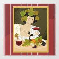 Bacco by Caravaggio Canvas Print