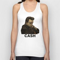 johnny cash Tank Tops featuring Johnny Cash by Philipp Banken