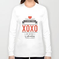 valentines Long Sleeve T-shirts featuring Valentines Day by cat&wolf