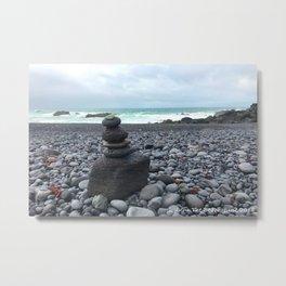 Grey cairns Beach Metal Print
