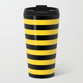 Black and Yellow Honey bee Stripes Travel Mug