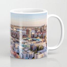 Aerial view of Hamburg with Speicherstadt and Elbphilharmonie Coffee Mug