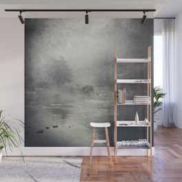 fog and light on the river Wall Mural