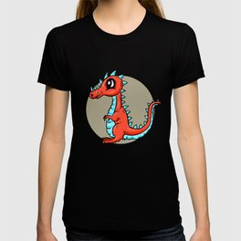 Dino Time! - The Calm Little Red Dragon T-shirt