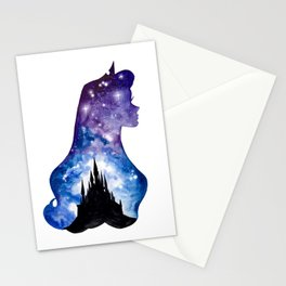 Sleeping Beauty Double Exposure Stationery Cards