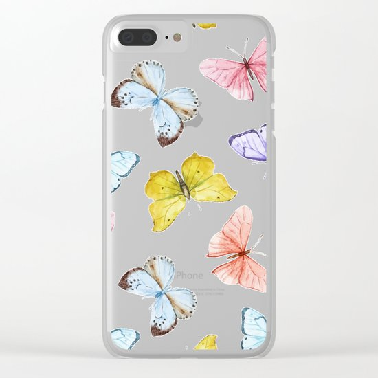 Butterfly Pattern 04 Clear iPhone Case