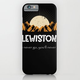 Lewiston Hiking Mountains Vintage Women iPhone Case