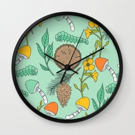 Minty Nature Lovers Wall Clock