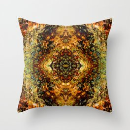 Abstract Acrylic Gem Painting Throw Pillow