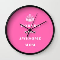 mom Wall Clocks featuring Mom by Beautiful Homes