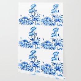blue peonies Wallpaper