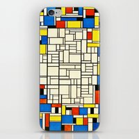 mondrian iPhone & iPod Skins featuring Mondrian by PureVintageLove