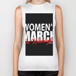 women march on washington Biker Tank