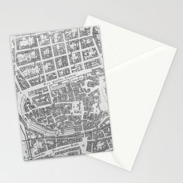 Vintage Map of Stuttgart Germany (1794) Stationery Cards