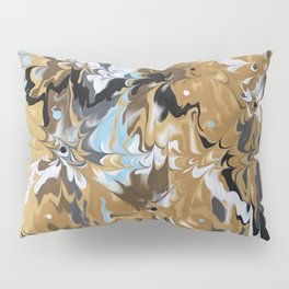 Abstract Music Gold Calypso pattern Pillow Sham