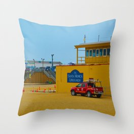 Santa Monica Lifeguards Throw Pillow
