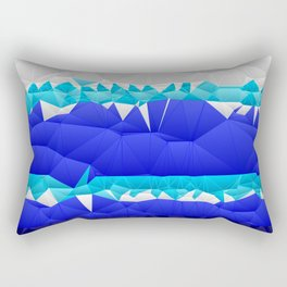 Nautical Inspired Quilted Pattern Design Rectangular Pillow