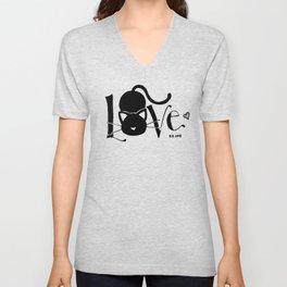 I Love You <3 Kitty Unisex V-Neck