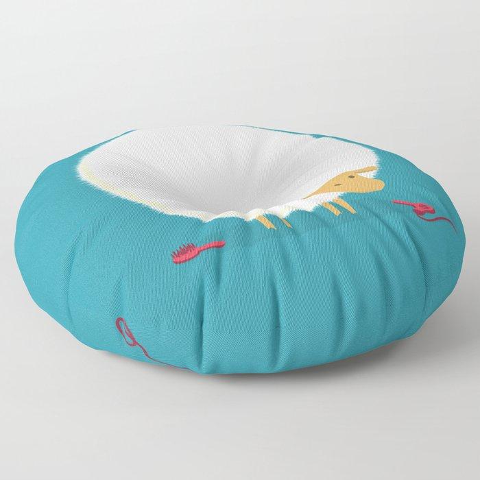 Fluffy Sheep Floor Pillow