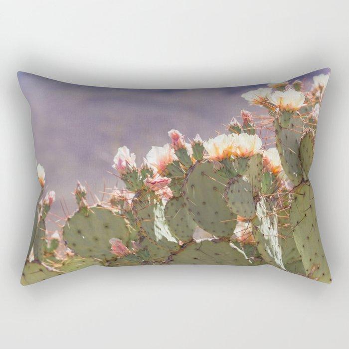 Prickly Pear Blooms I Rectangular Pillow