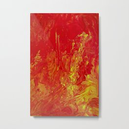 Fire Pouring Metal Print