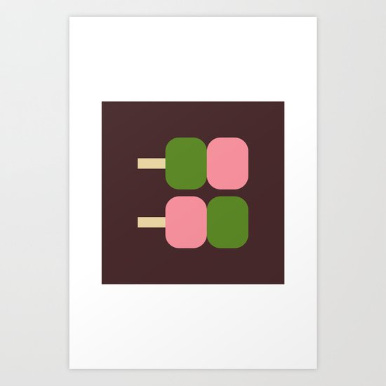 Japan Dango Sweet Art Print