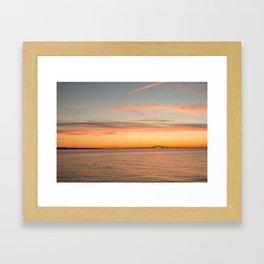 long island sunrise Framed Art Print