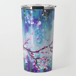 Storm Clouds and Japanese Cherry Blossom Branch Travel Mug