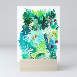 Twice Last Wednesday: Abstract Jungle Botanical Painting Mini Art Print