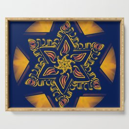 Hanukkah Star of David - 2 Serving Tray