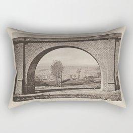 Arche du Viaduc de Vignols Les Travaux Publics de la France Rectangular Pillow