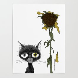 Sad is one complicated emotion of a cat! Poster